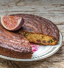 Soft Almond, Fig and Grape Cake