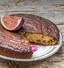 Soft Almond, Fig and Grape Cake